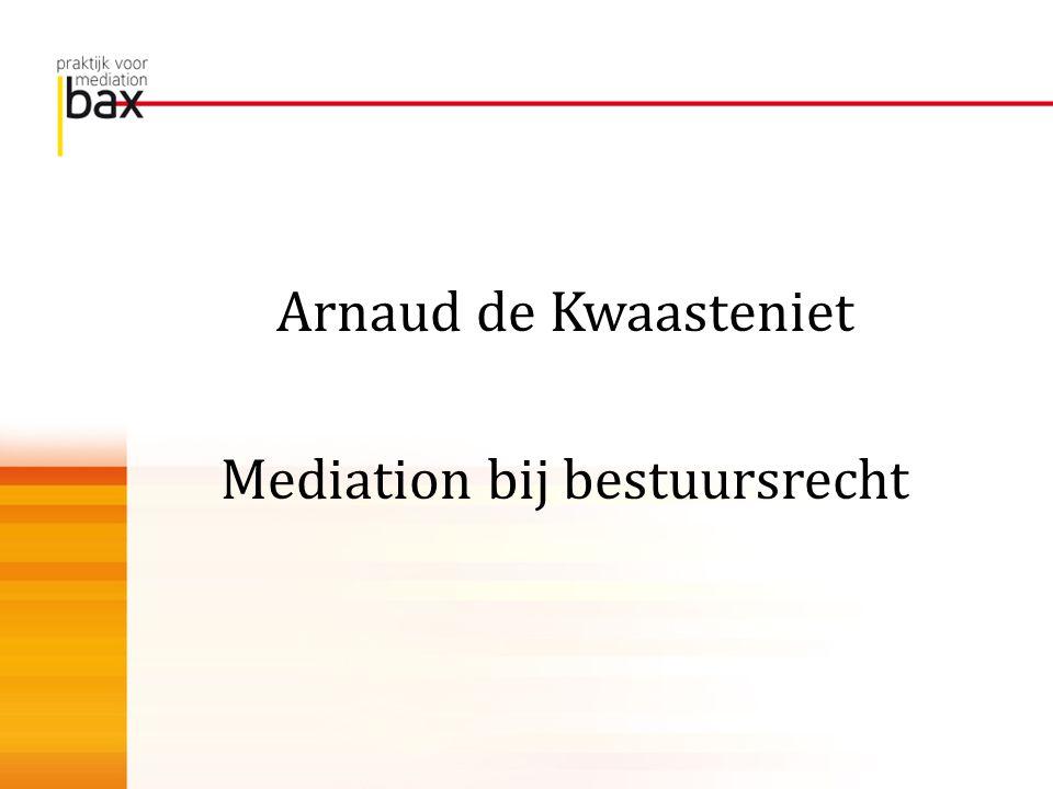 Mediation bij bestuursrecht