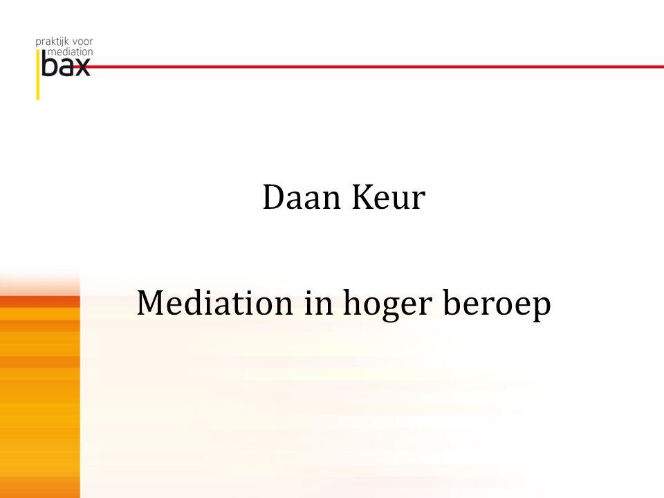 Mediation in hoger beroep