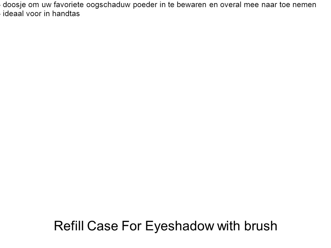Refill Case For Eyeshadow with brush