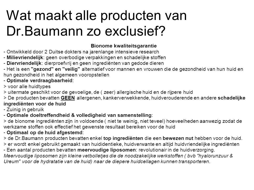 Wat maakt alle producten van Dr.Baumann zo exclusief