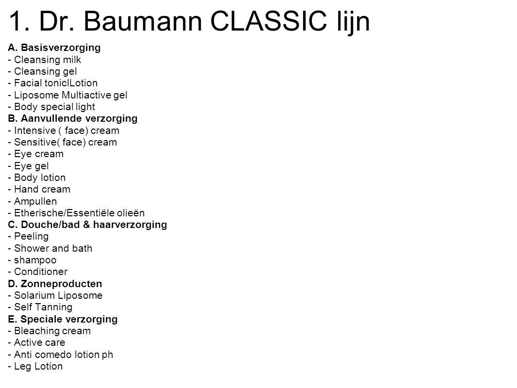 1. Dr. Baumann CLASSIC lijn