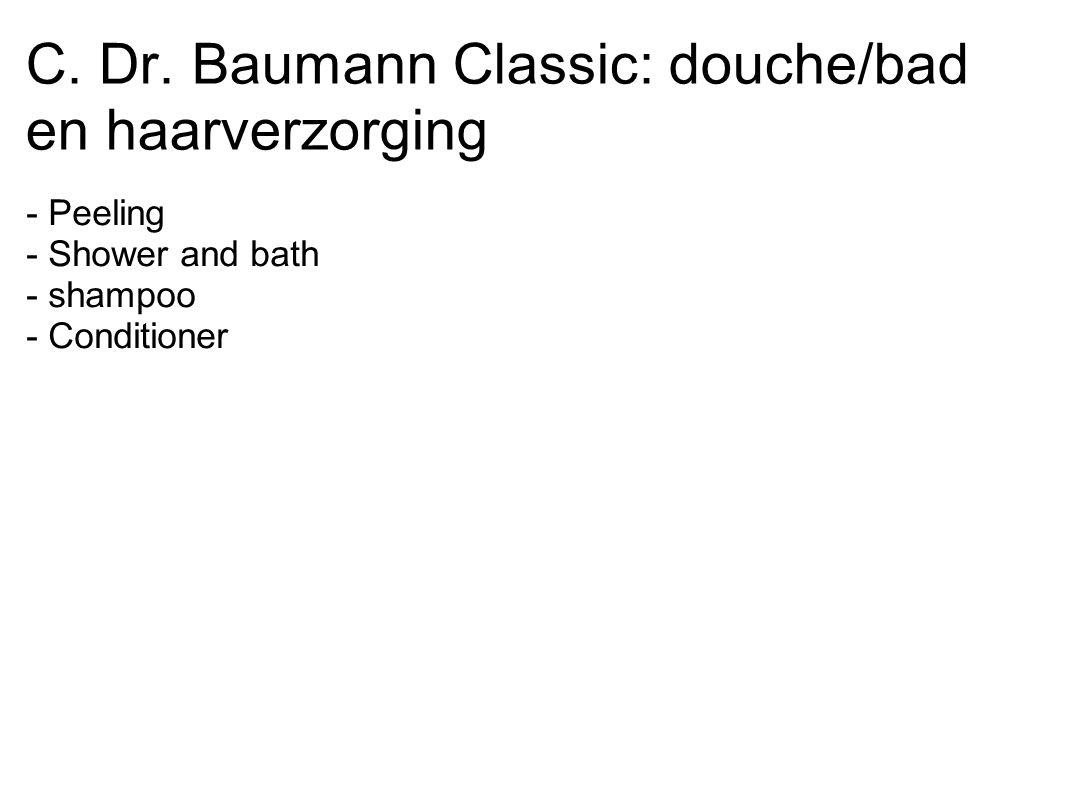 C. Dr. Baumann Classic: douche/bad en haarverzorging
