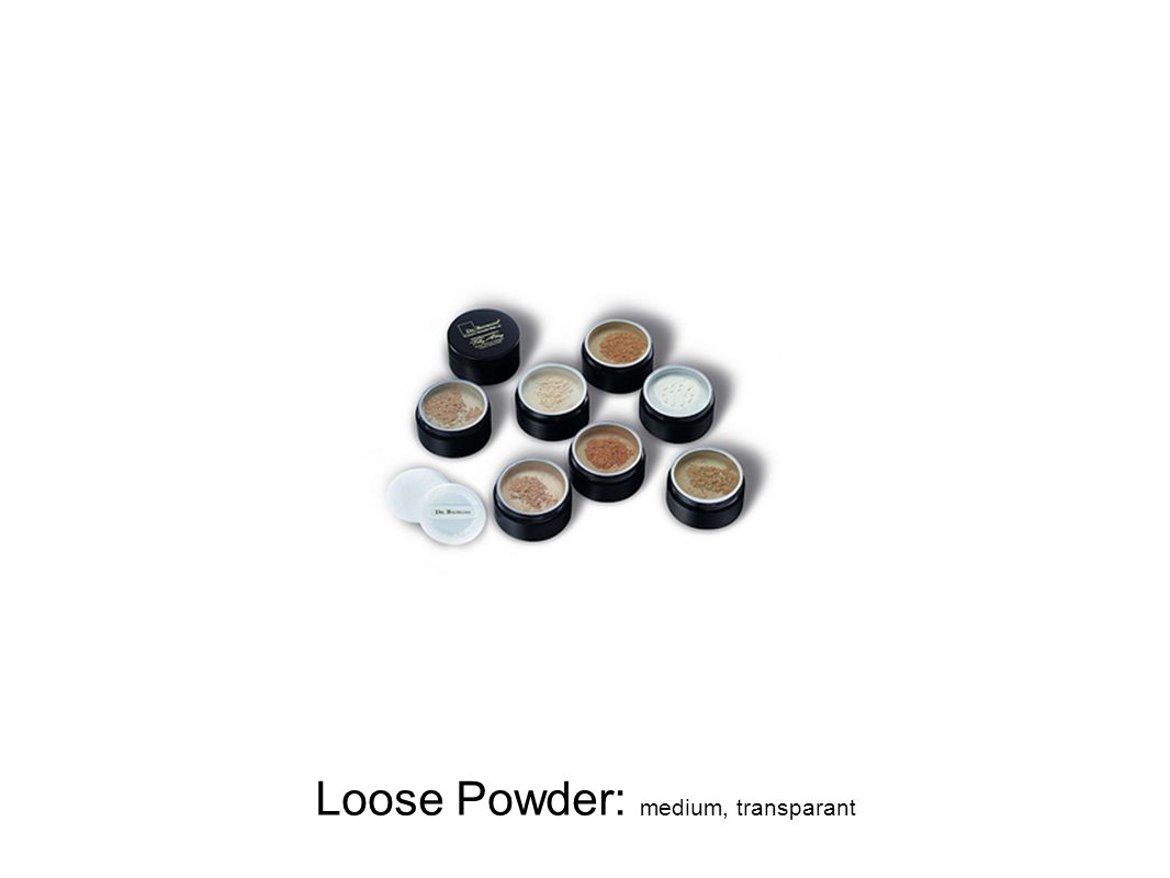 Loose Powder: medium, transparant