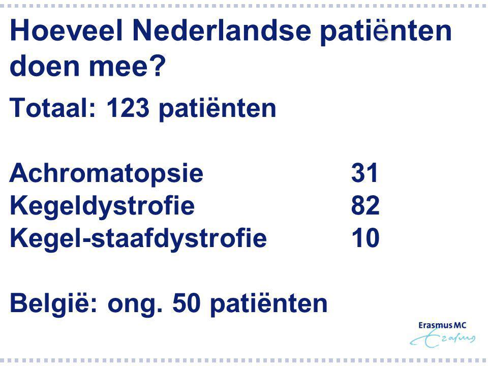 Hoeveel Nederlandse patiënten doen mee