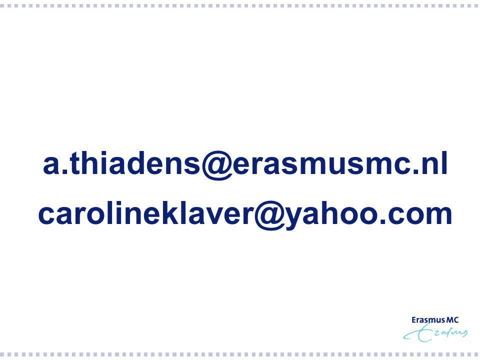a.thiadens@erasmusmc.nl carolineklaver@yahoo.com
