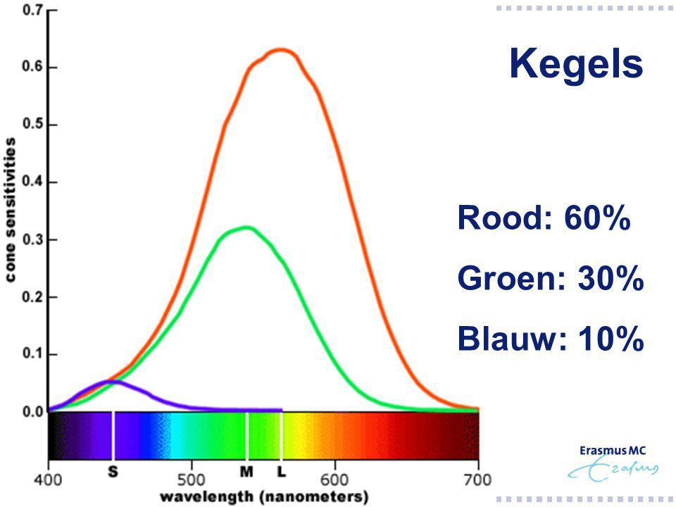 Kegels Rood: 60% Groen: 30% Blauw: 10%