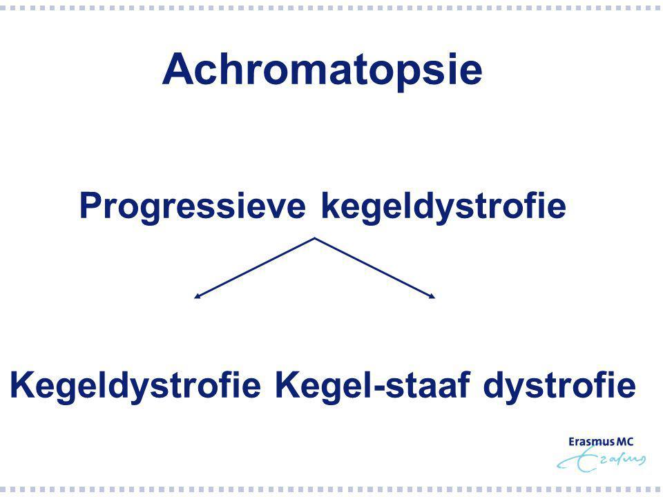 Progressieve kegeldystrofie Kegeldystrofie Kegel-staaf dystrofie