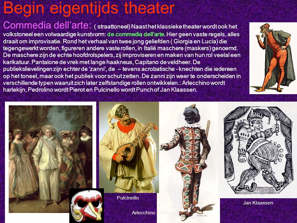 Begin eigentijds theater