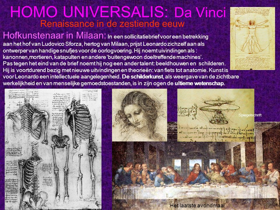 HOMO UNIVERSALIS: Da Vinci