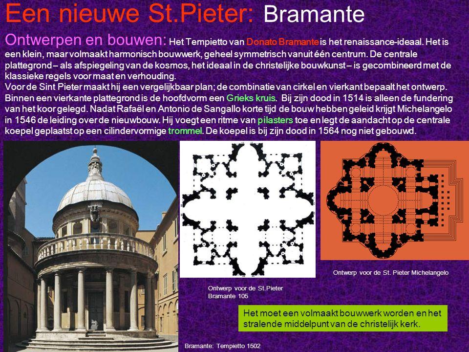 Een nieuwe St.Pieter: Bramante