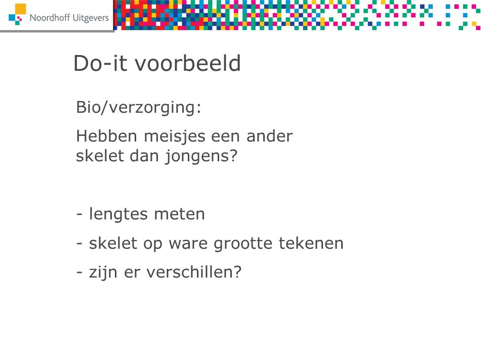 Do-it voorbeeld Bio/verzorging: