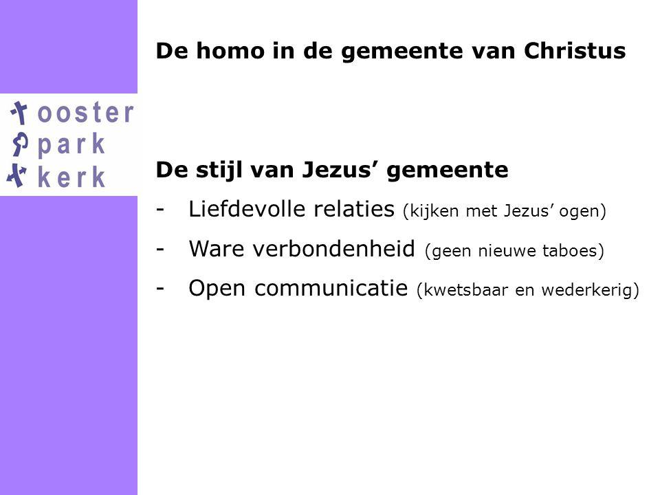 De homo in de gemeente van Christus