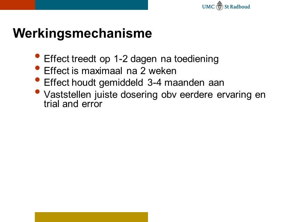 Werkingsmechanisme Effect treedt op 1-2 dagen na toediening
