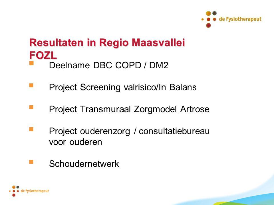 Resultaten in Regio Maasvallei FOZL