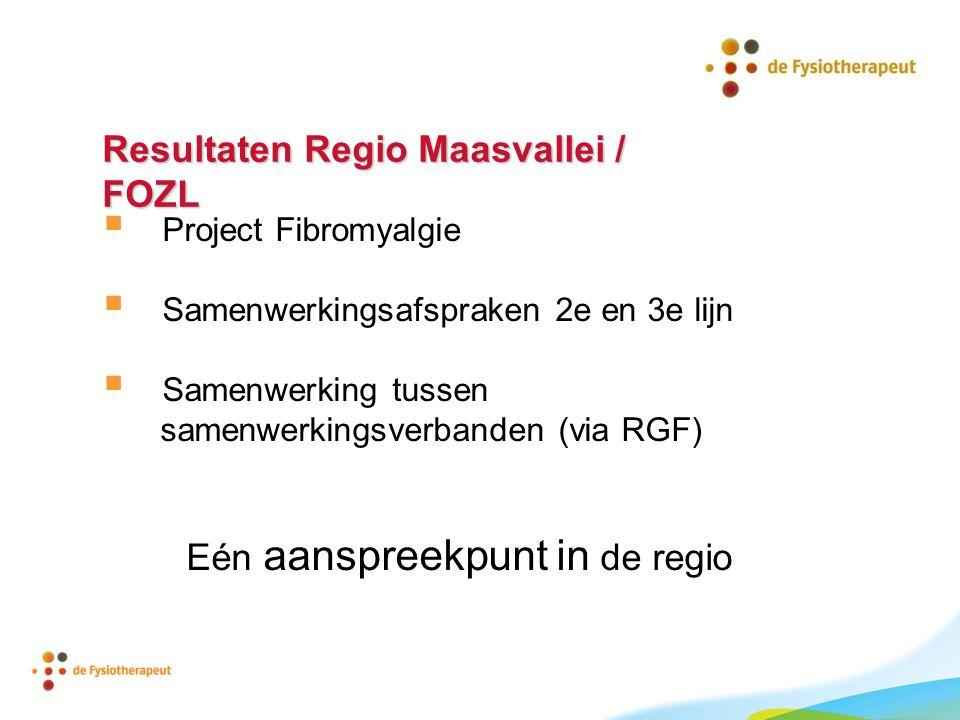 Resultaten Regio Maasvallei / FOZL