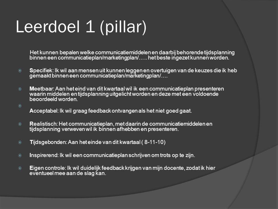Leerdoel 1 (pillar)