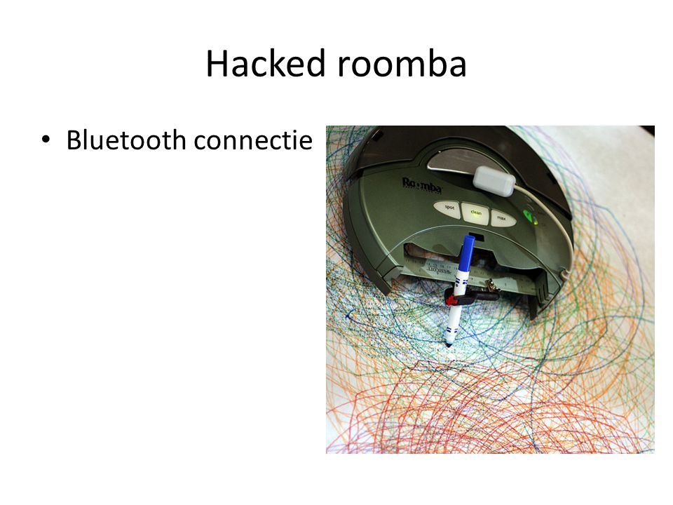 Hacked roomba Bluetooth connectie