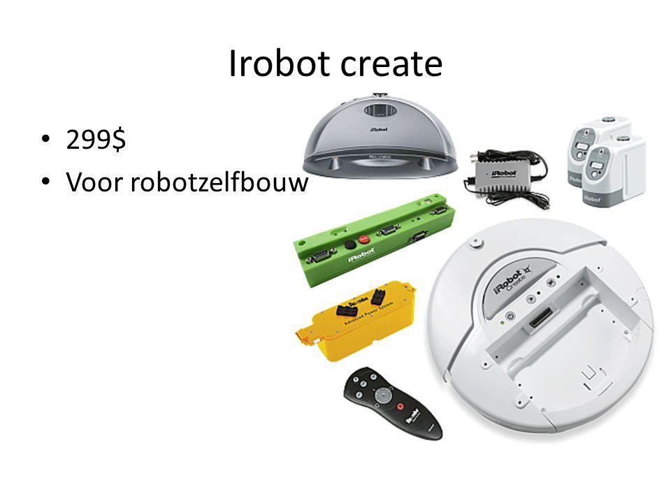 Irobot create 299$ Voor robotzelfbouw
