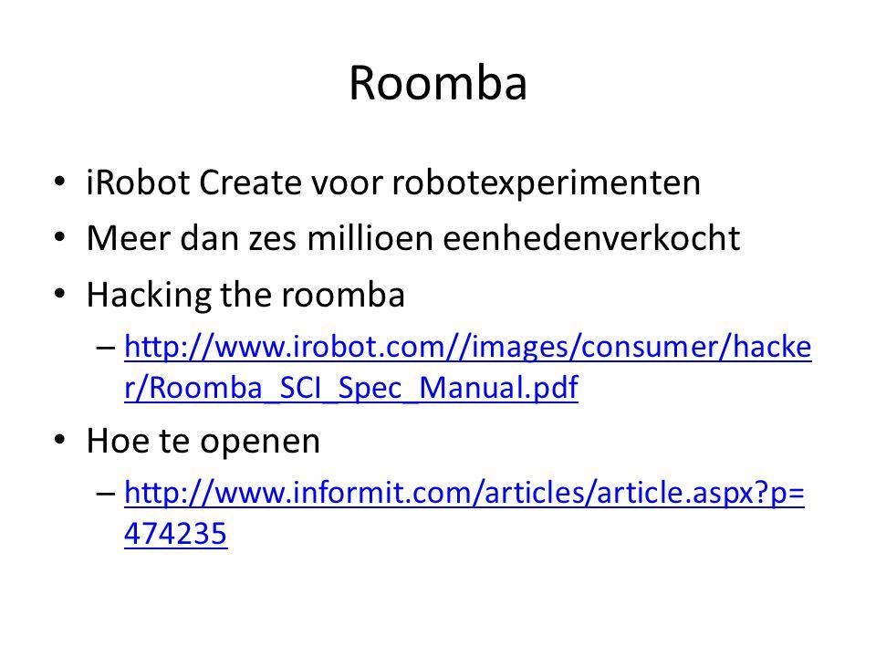 Roomba iRobot Create voor robotexperimenten