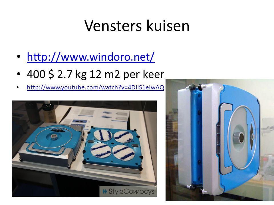 Vensters kuisen http://www.windoro.net/ 400 $ 2.7 kg 12 m2 per keer