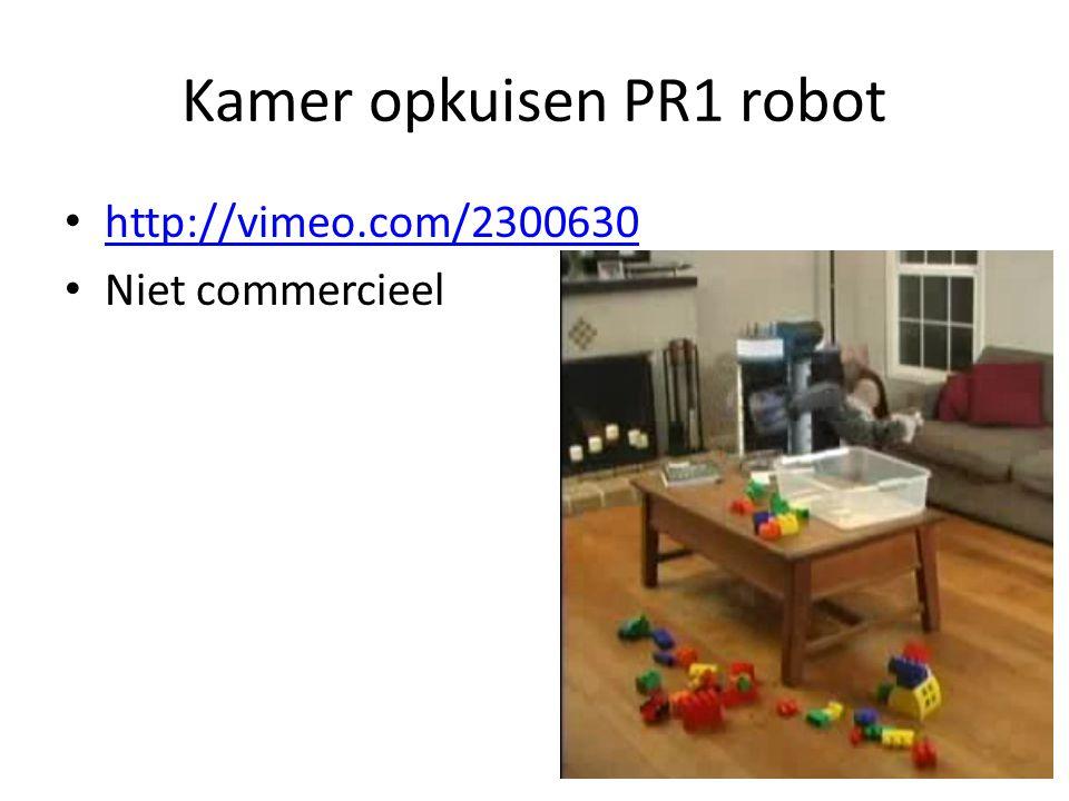 Kamer opkuisen PR1 robot