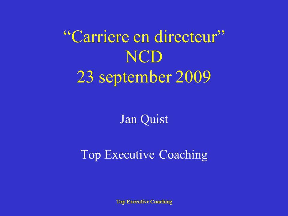 Carriere en directeur NCD 23 september 2009