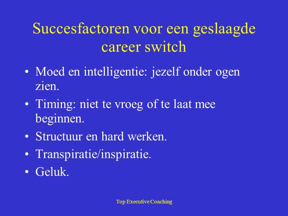 Succesfactoren voor een geslaagde career switch
