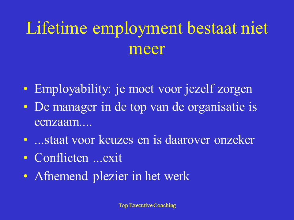 Lifetime employment bestaat niet meer