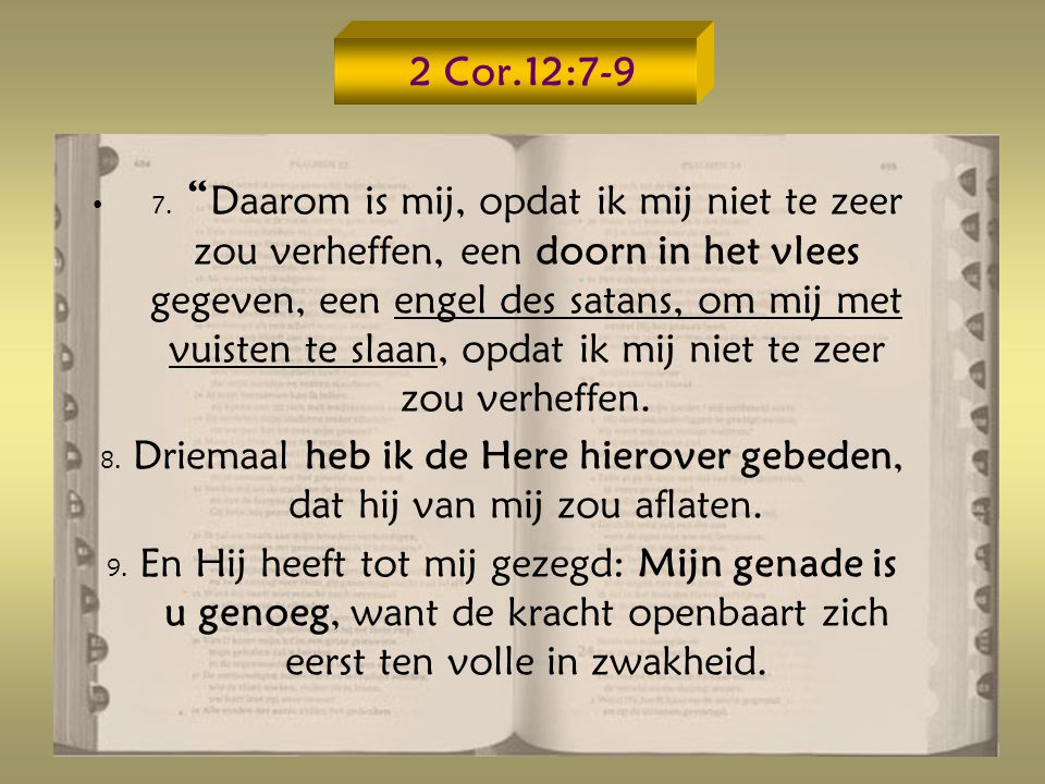 2 Cor.12:7-9