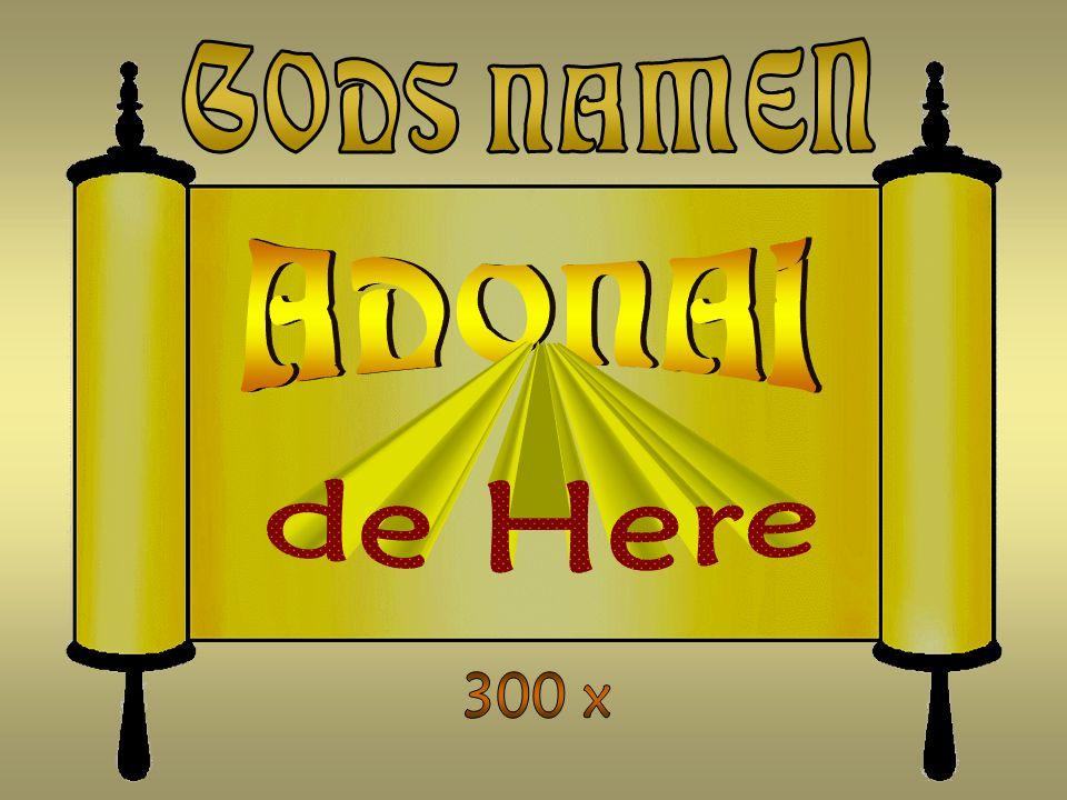 GODS NAMEN ADONAI de Here 300 x