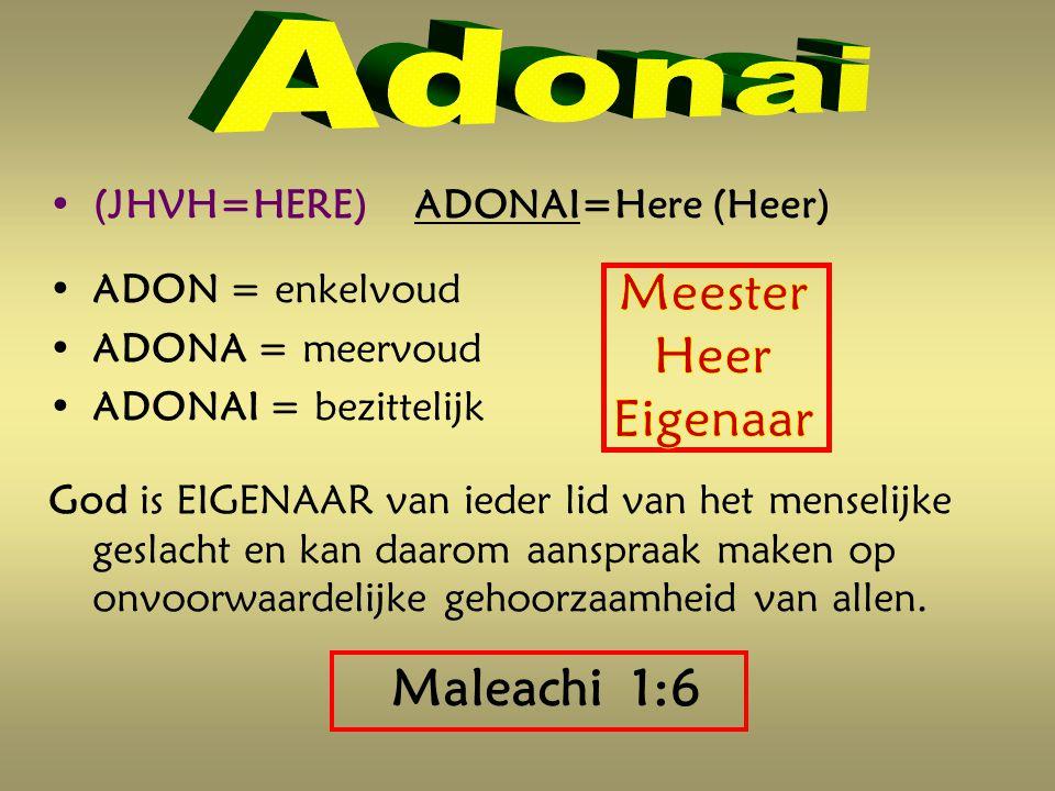 Maleachi 1:6 Meester Heer Eigenaar