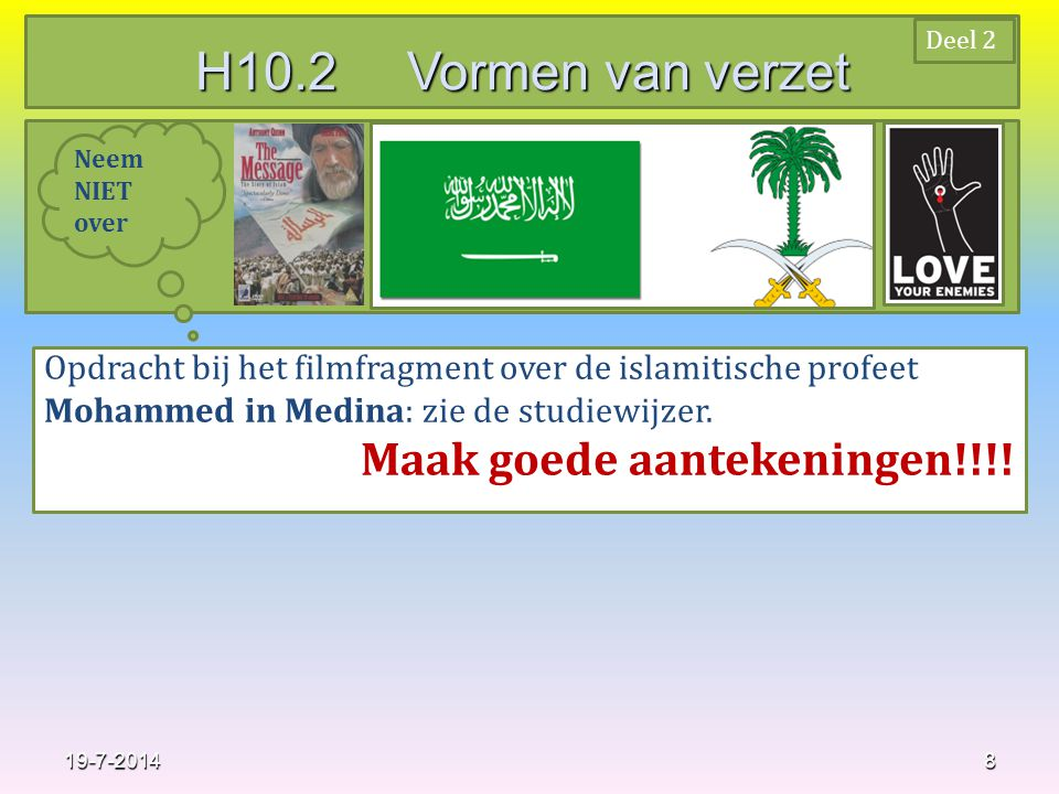 H10.2 Vormen van verzet Maak goede aantekeningen!!!!