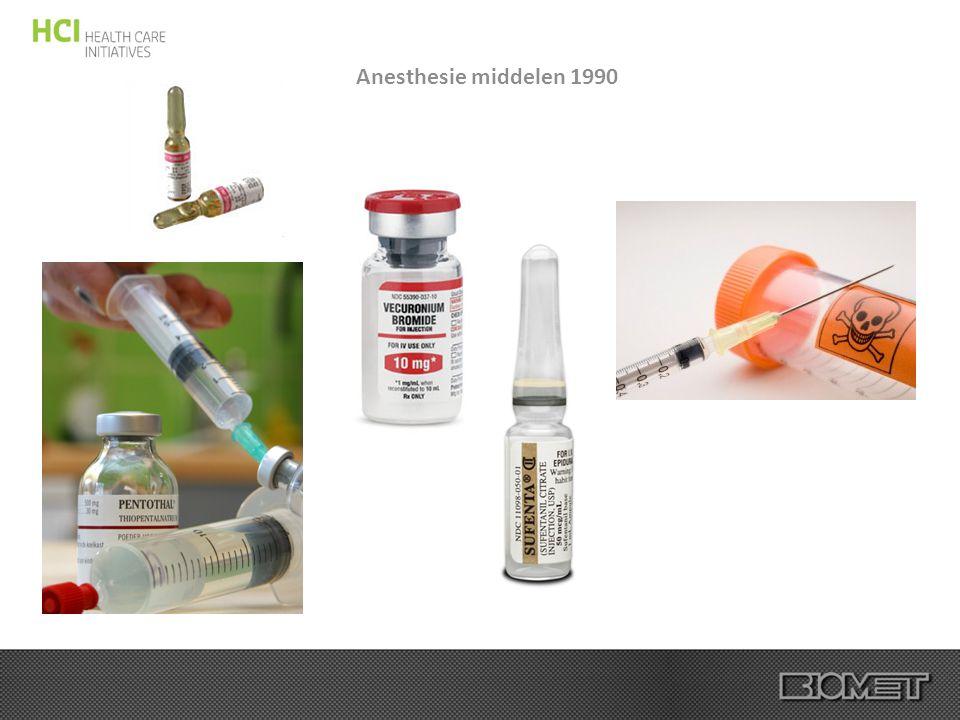 Anesthesie middelen 1990