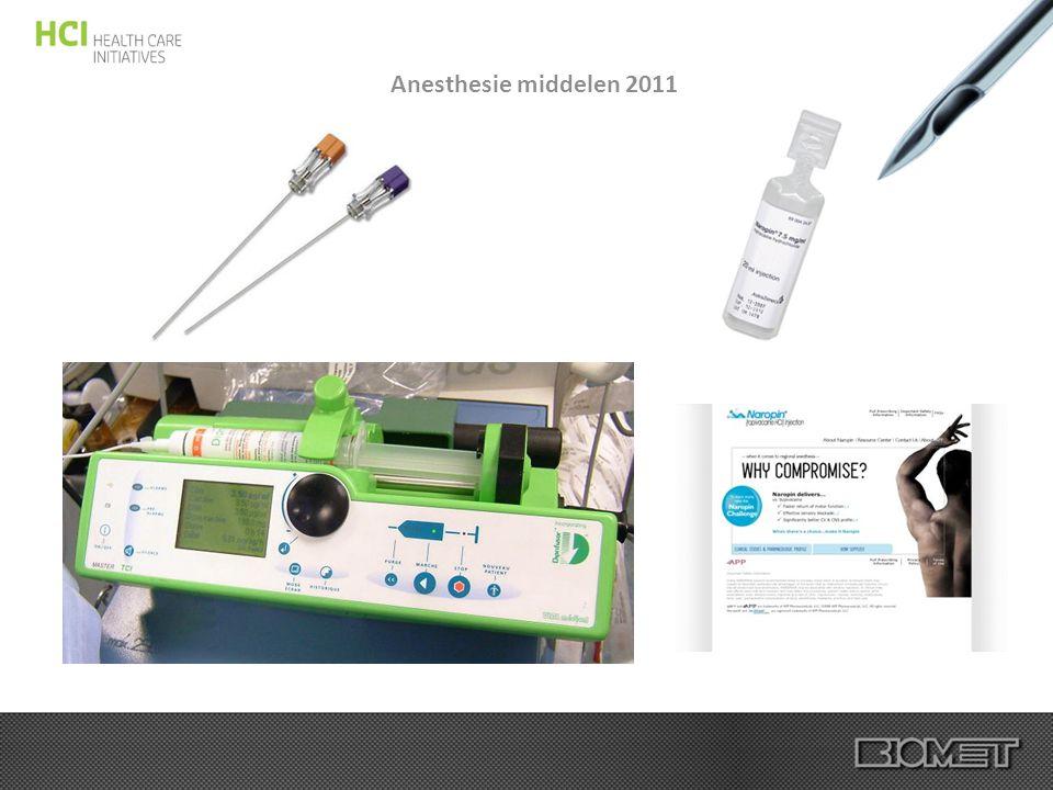 Anesthesie middelen 2011