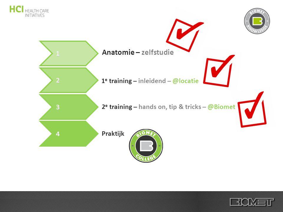 Anatomie – zelfstudie 1 2 1e training – inleidend – @locatie 3