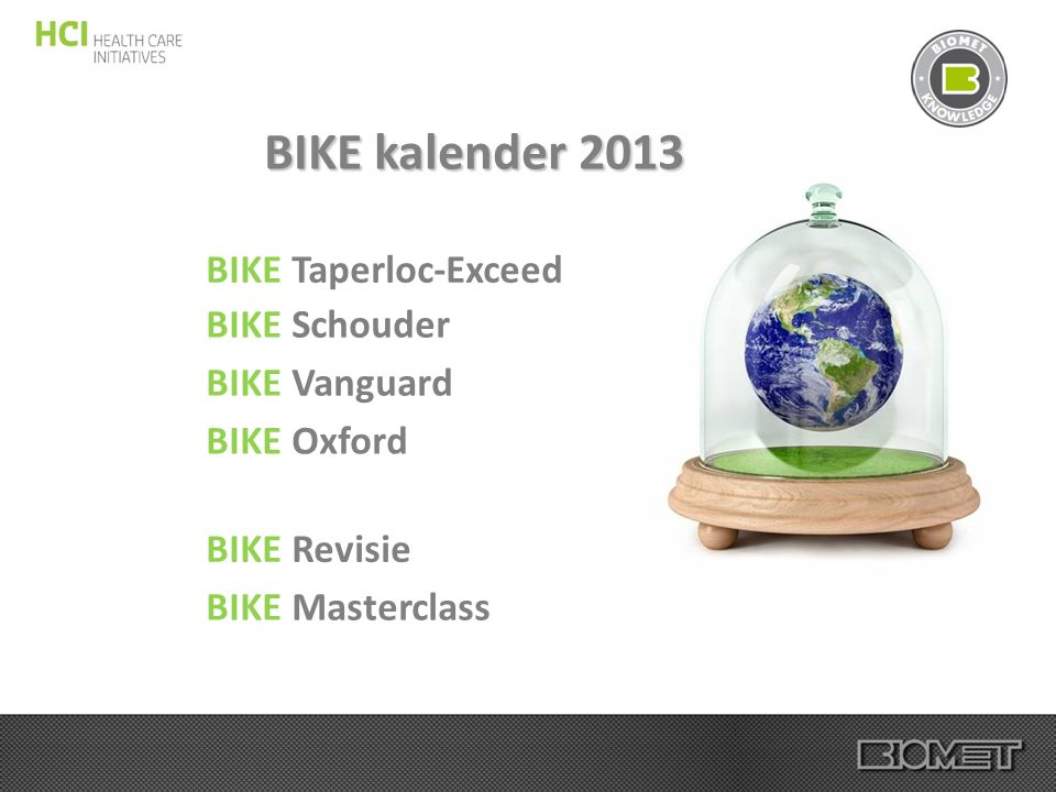 BIKE kalender 2013 BIKE Taperloc-Exceed BIKE Schouder BIKE Vanguard