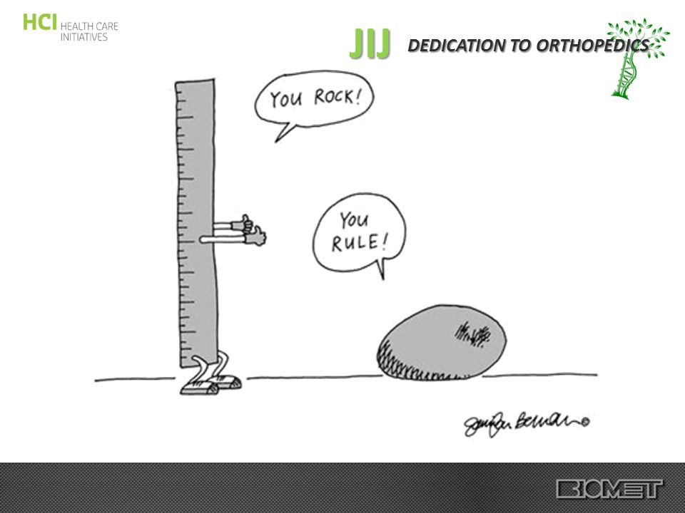 DEDICATION TO ORTHOPEDICS