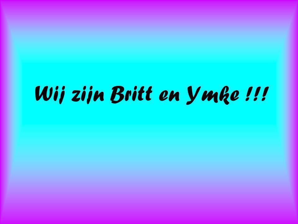 Wij zijn Britt en Ymke !!!