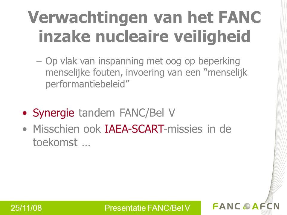Verwachtingen van het FANC inzake nucleaire veiligheid