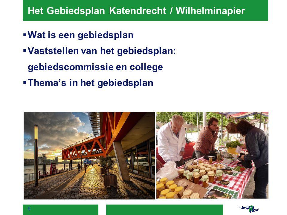 Het Gebiedsplan Katendrecht / Wilhelminapier