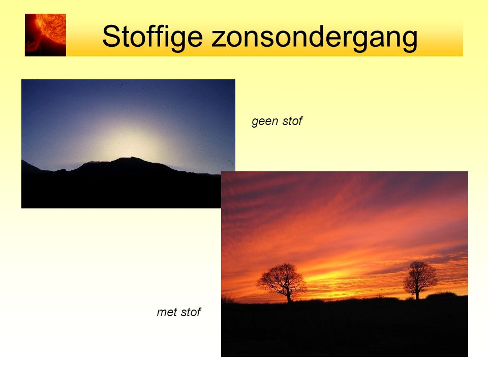Stoffige zonsondergang