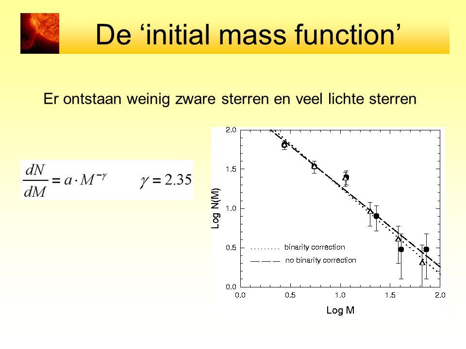 De 'initial mass function'