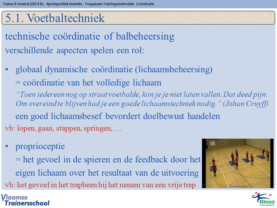 5.1. Voetbaltechniek technische coördinatie of balbeheersing