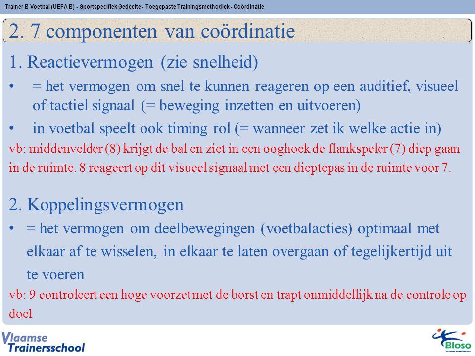 2. 7 componenten van coördinatie