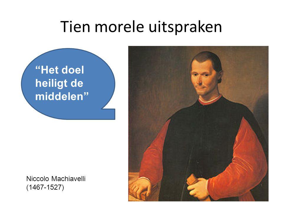 Tien morele uitspraken