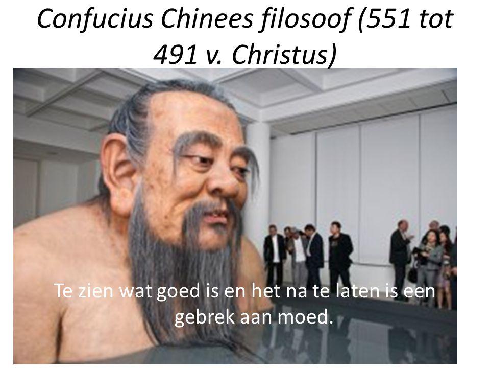 Confucius Chinees filosoof (551 tot 491 v. Christus)