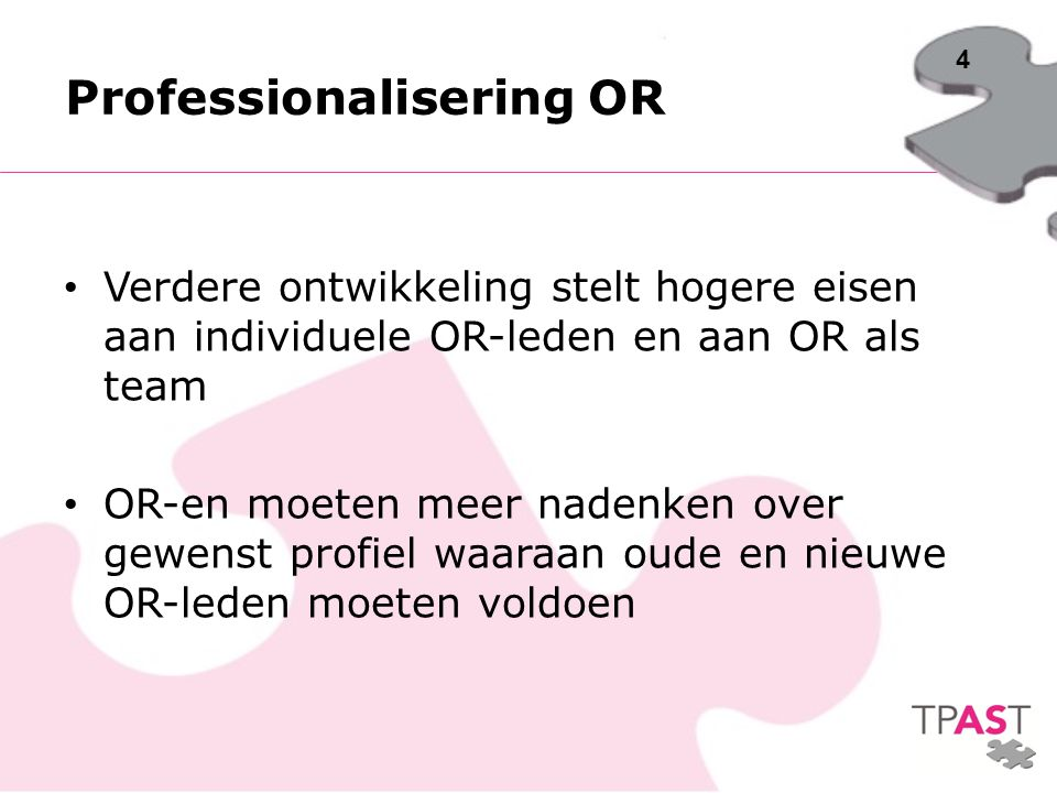 Professionalisering OR