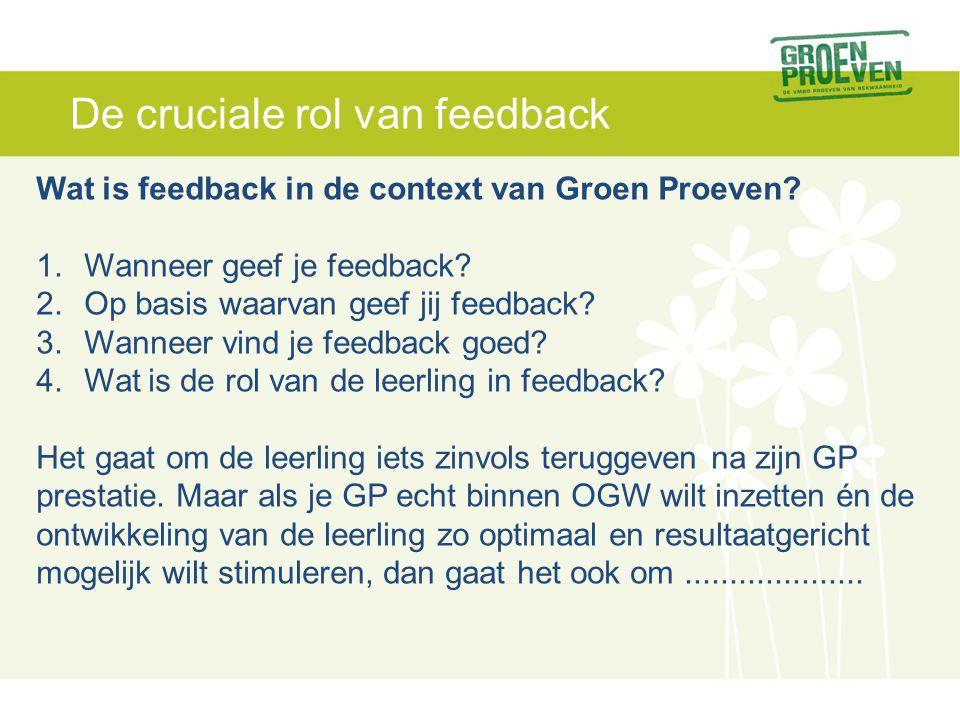 De cruciale rol van feedback