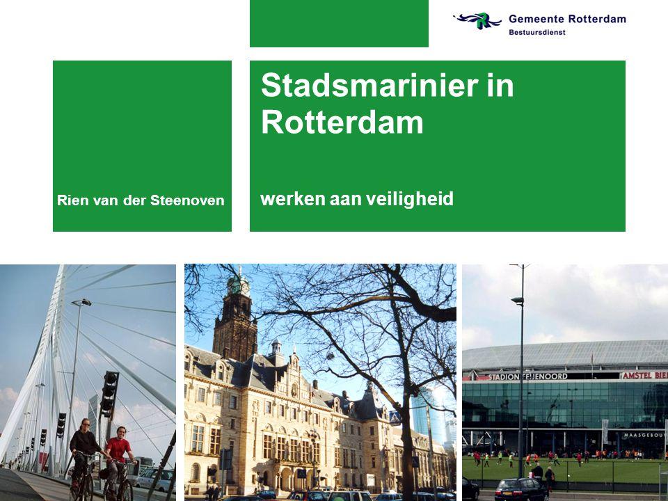 Stadsmarinier in Rotterdam werken aan veiligheid