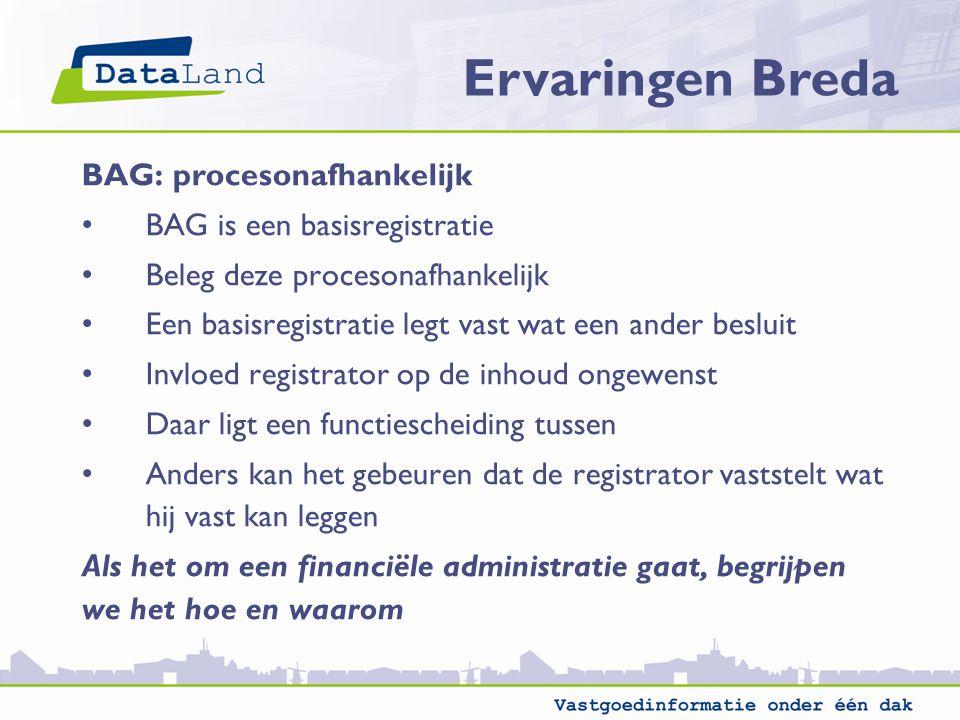 Ervaringen Breda BAG: procesonafhankelijk BAG is een basisregistratie